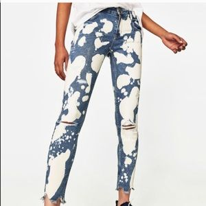 Zara Bleached Jeans